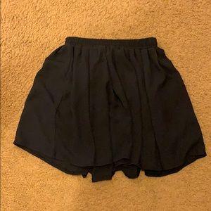 Navy blue flowy mini skirt